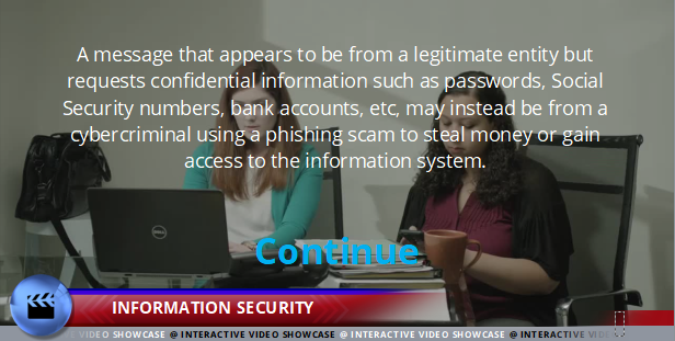 Code of Conduct, Information Security and Data Privacy - Information Security - Interactive Compliance Videos