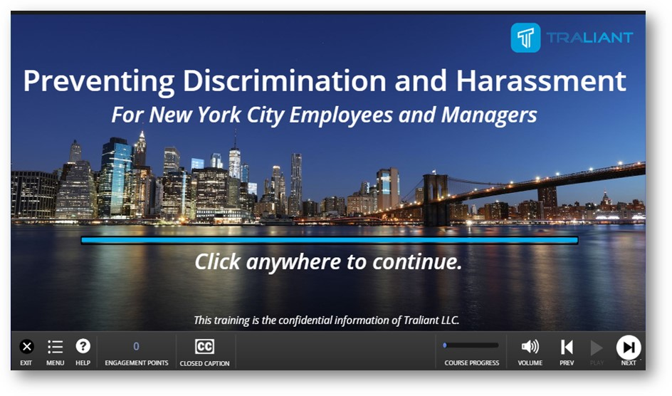 Stop Sexual Harassment in NYC Act Training