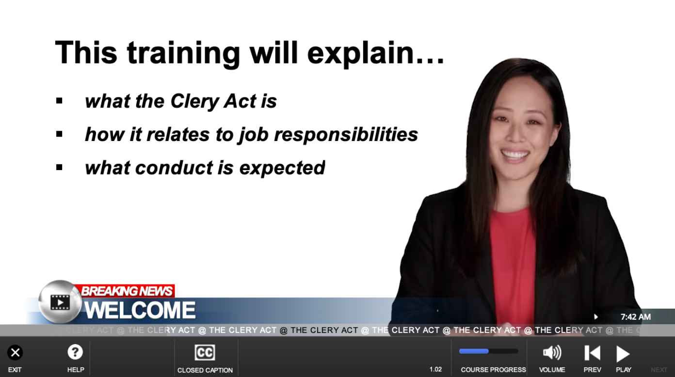Online Clery Act Training