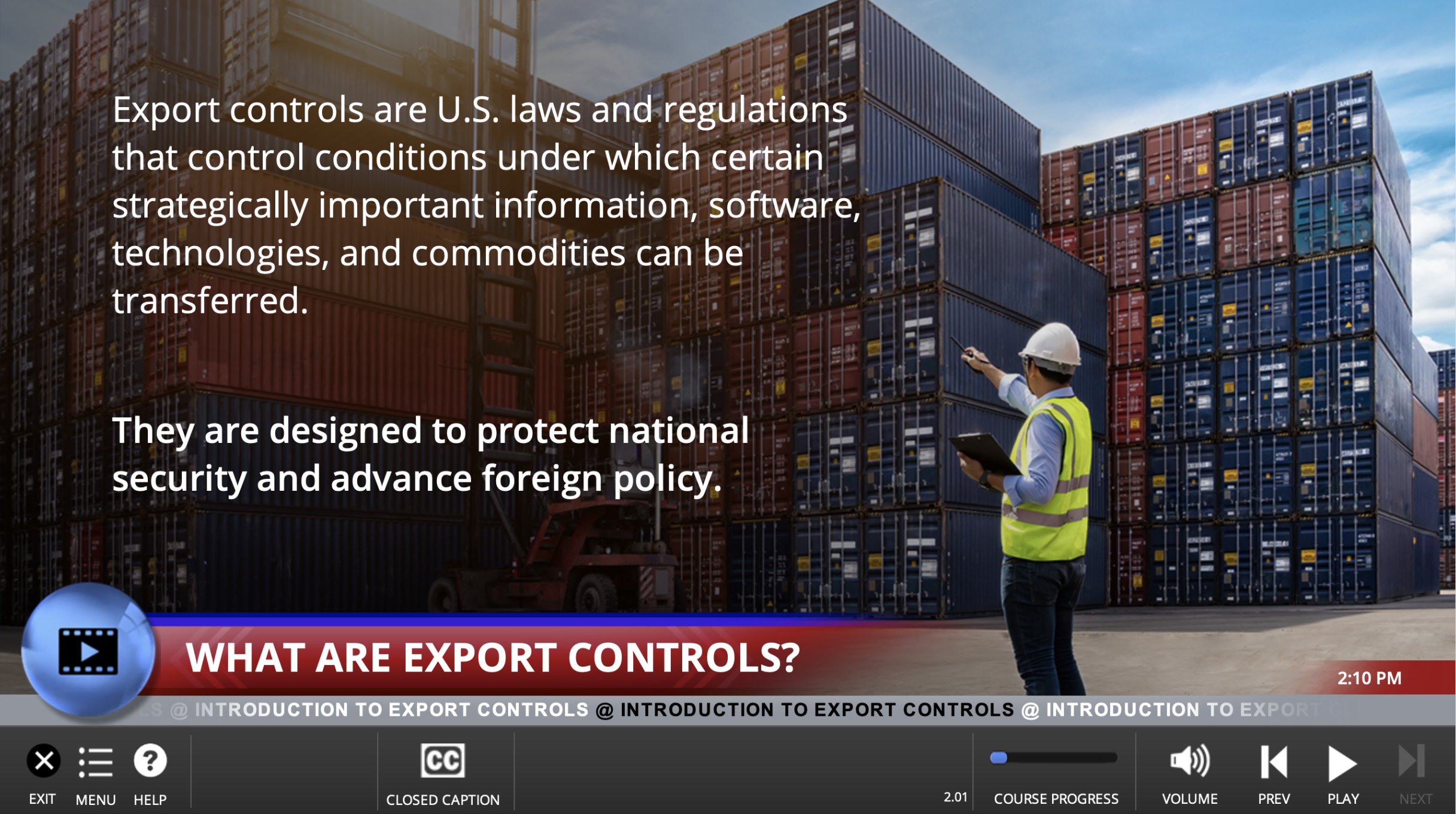 Export Controls Training