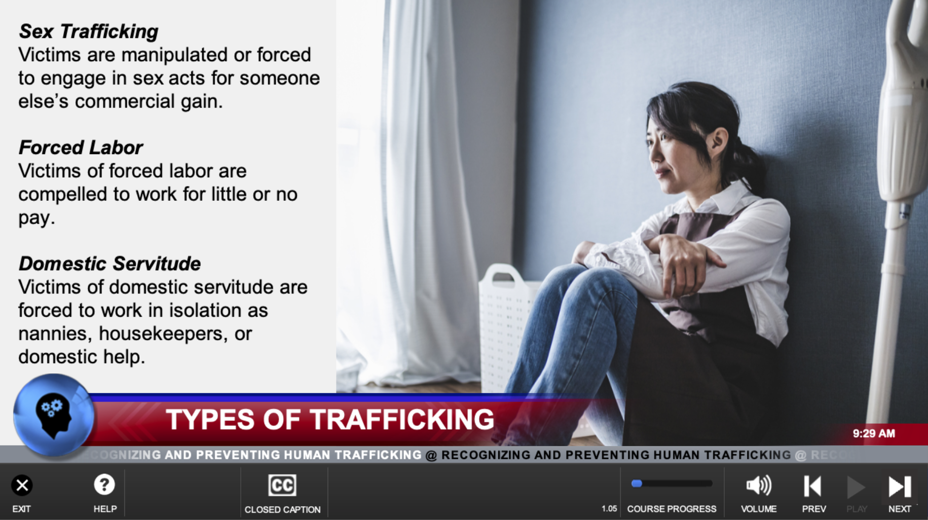 human trafficking for hotels training