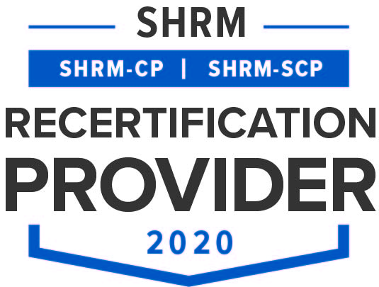 SHRM Recertification Provider CP-SCP Seal 2020