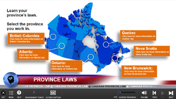 Canadian Province Laws Map