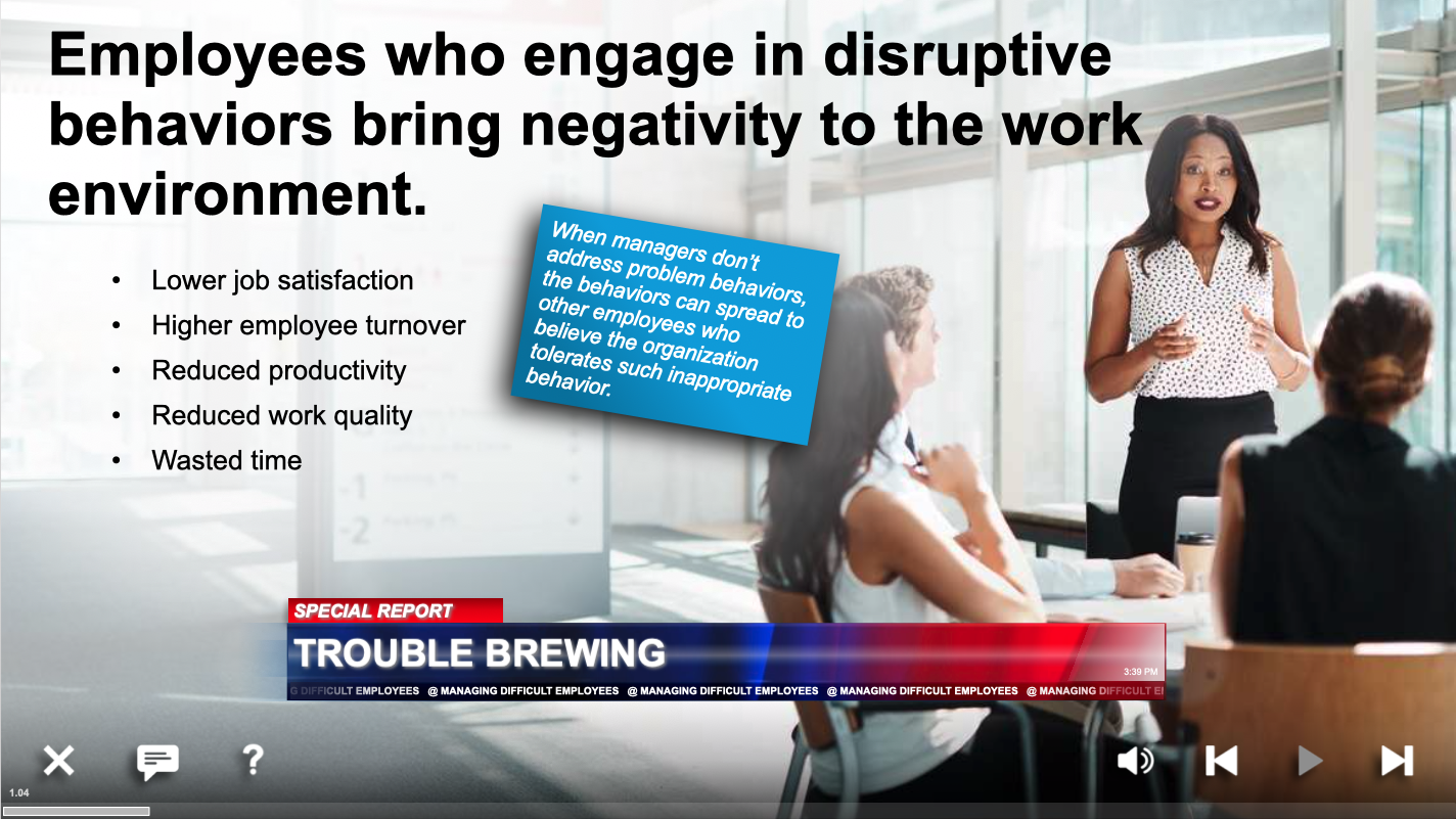 managing difficult employees training