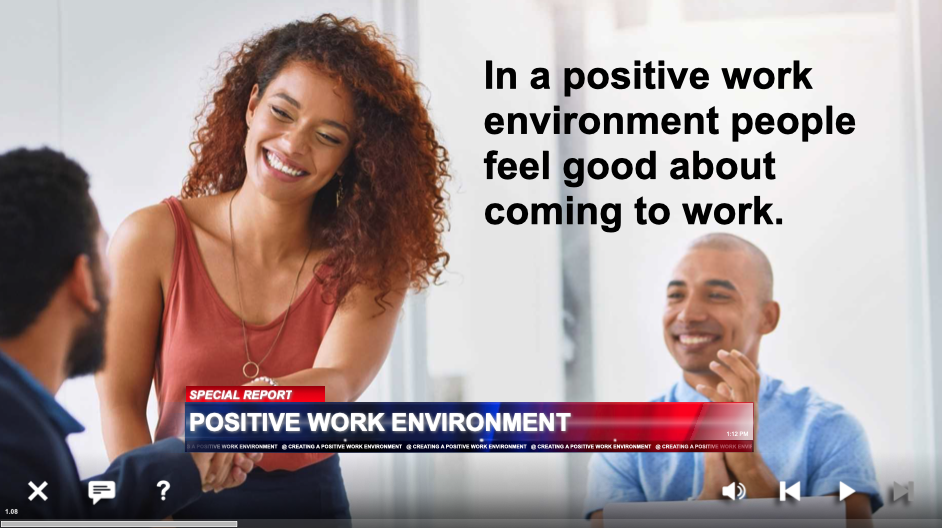 creating a positive work environment training
